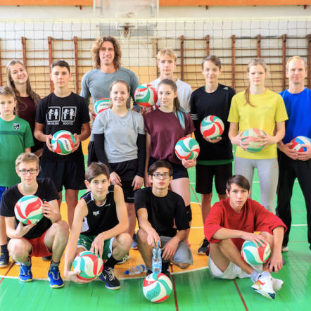 VOLLEYBALL TRAINING WITH ALEKSANDRS SAMOILOVS IN PĀRGAUJAS GYMNASIUM IN VALMIERA